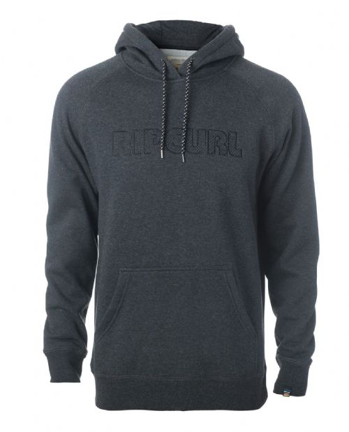 RIP CURL MENS HOODY.MAMA'S BRODERY FLEECE BLACK/GREY HOODED TOP HOODIE 7W 4 9245